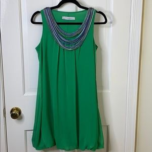 Zara Bubble Dress w/ Neck Ornamentation B-19